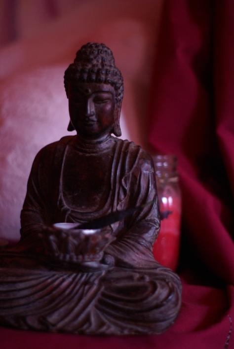 The Buddha Sits